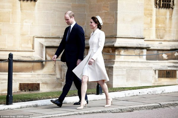 William & Catherine - Easter Day Service, le 16 Avril 2017 _ Suite