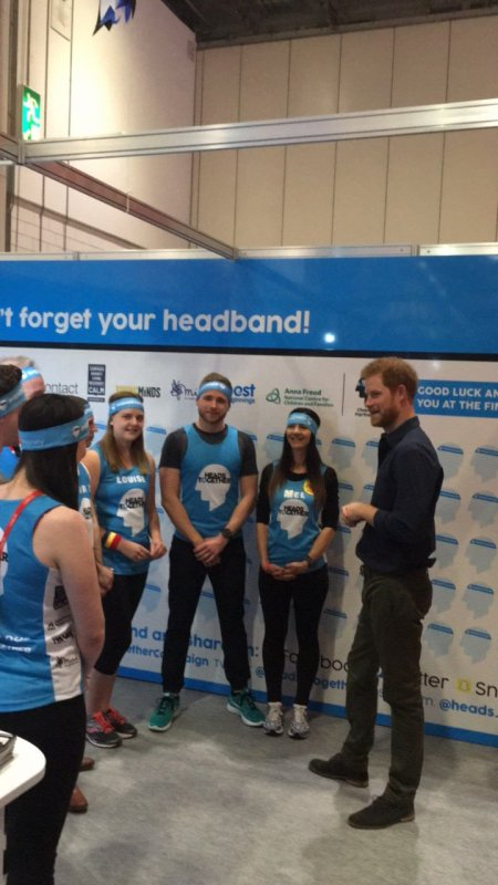 Prince Harry - the Virgin Money London Marathon Expo , le 19 Avril 2017