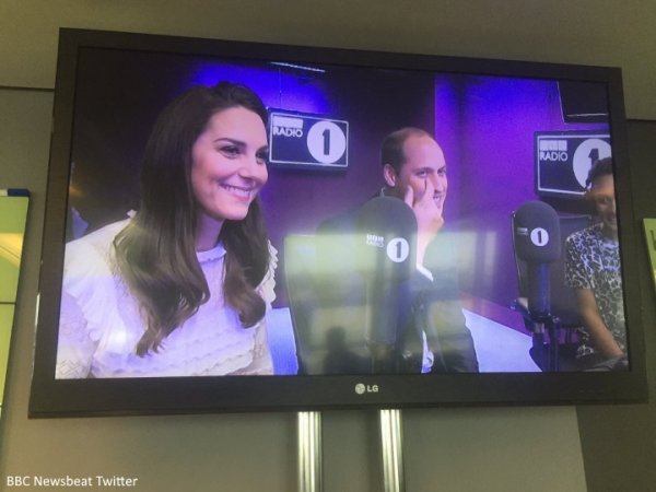 William & Catherine - BBC Radio 1 Appearance , le 21 Avril 2017