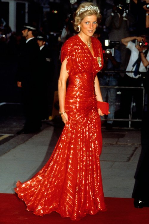 Princess Diana - Claridges Hotel For A Banquet ,le 20 juillet 1989