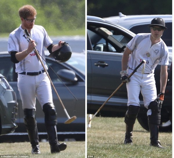 William et Harry - the Audi Polo Challenge , le 07 Mai 2017