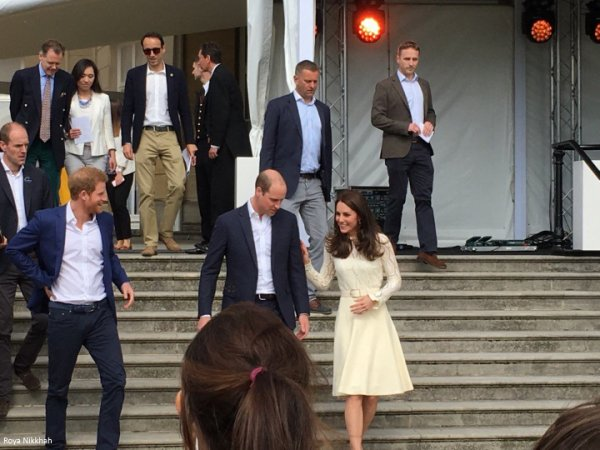 William & Catherine et Harry - Buckingham Palace Tea Party , le 13 Mai 2017