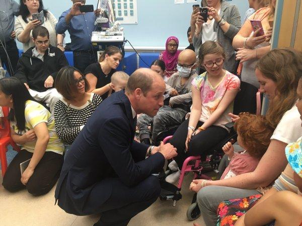 Prince William - Royal Marsden, le 16 Mai 2017