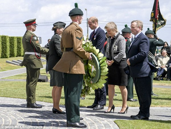 Prince William - Battle of Messines Ridge Commemorations Belgium , le 07 juin  2017