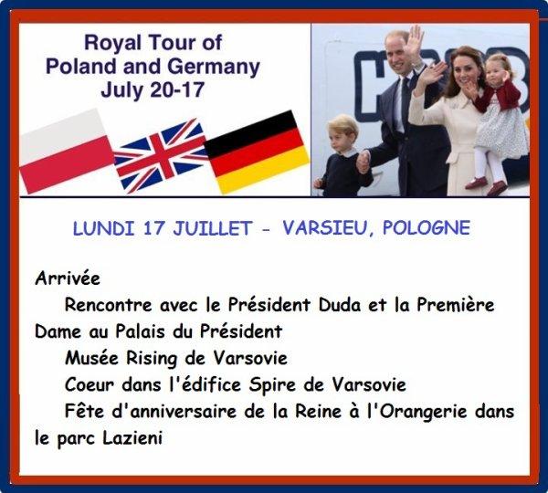 William & Catherine - Poland & Germany Tour , le 17 juillet 2017