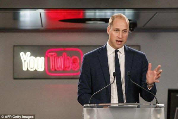 Prince William - Google & YouTube , le 16 Novembre 2017