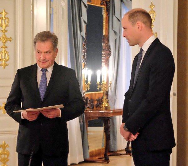 Prince William - Finland , le 29 novembre 2017