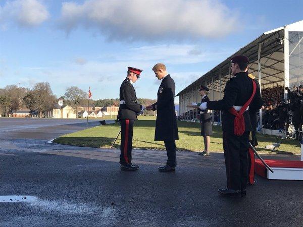 Prince Harry - The Sovereign's Parade Royal Military , le 15 décembre 2017 _ Suite