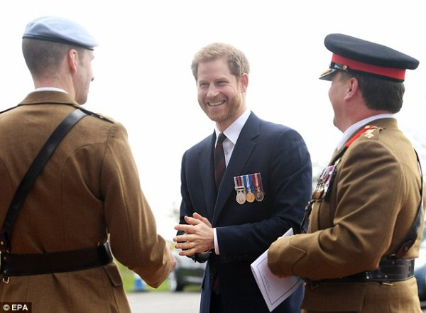 Prince Harry - Ceremony The Museum of Army Flying , le 16 Mars 2018