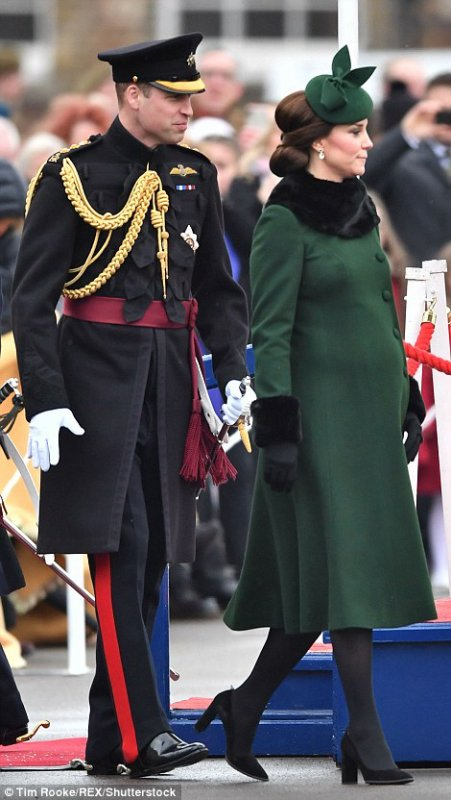 William & Catherine - Irish Guards St Patrick's Day Parade , le 17 Mars 2018