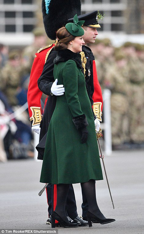 William & Catherine - Irish Guards St Patrick's Day Parade , le 17 Mars 2018 _ Suite