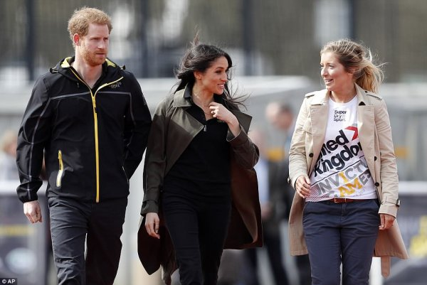 Prince Harry & Miss Meghan Markle - the UK Team Trials for the Invictus Games Sydney 2018 , le 06 Avril 2018