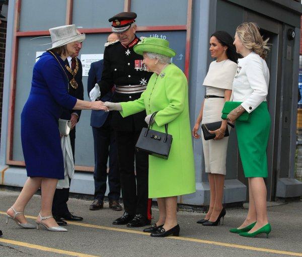Duchess Meghan &  Queen Elizabeth II - Cheshire , le 14 juin 2018