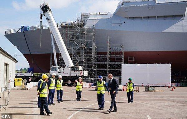 Prince William - BAE Systems shipyard  Glasgow , le 29 juin 2021 _ Suite