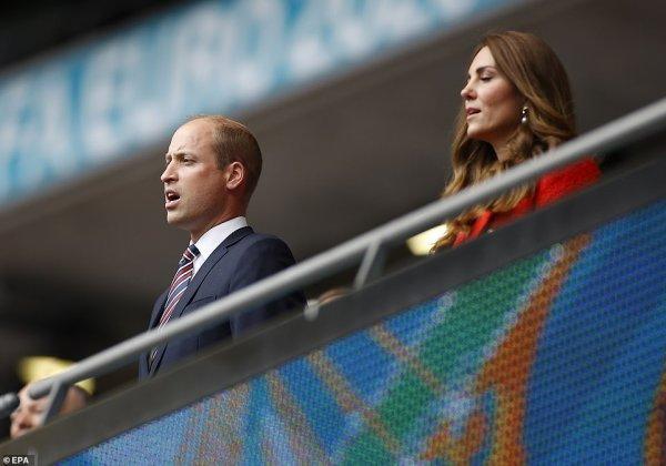 William , George & Catherine -  Uefa Euro 2020 at Wembley Stadium, le 29 Juin 2021