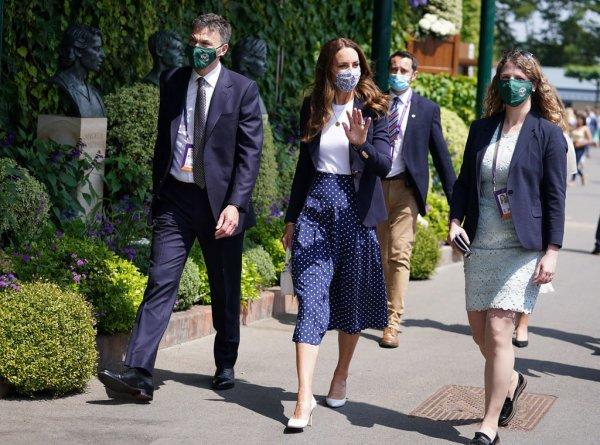 Duchess Catherine - Wimbledon , le 02 juillet 2021 .