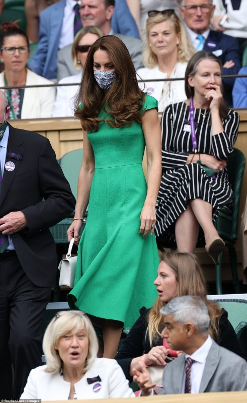 William & Catherine - 2021 Ladies' Singles Final Wimbledon, le 10 Juillet  2021