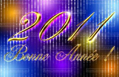 Bonne anée 2011 a tous avec et surtout la sante ; bises ^^
