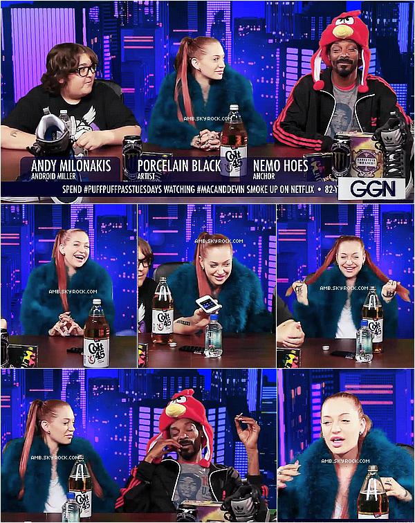 Porcelain et Snoop Dogg donnent une interview pour l'émission LSN (09.10)