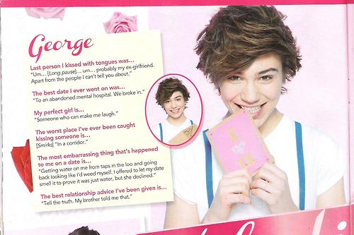 """George dans un Magazine pour la """"Saint Valentin"""""""