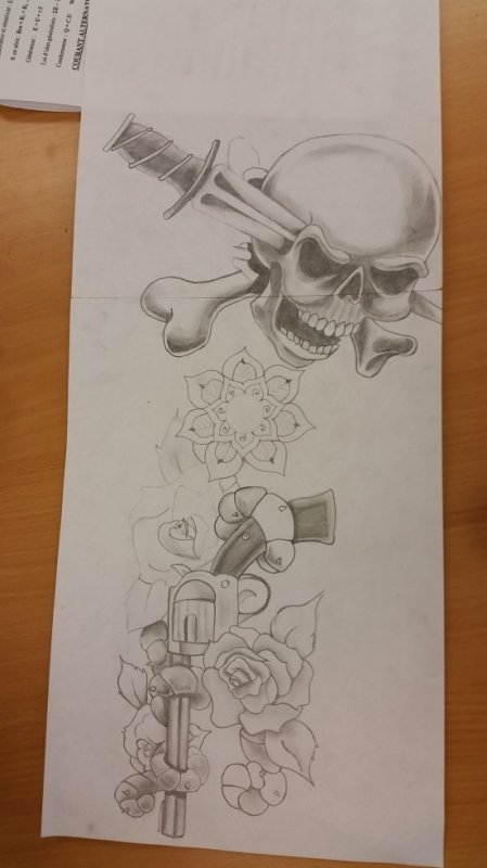 Dessin: petit projet de tatouage ;D