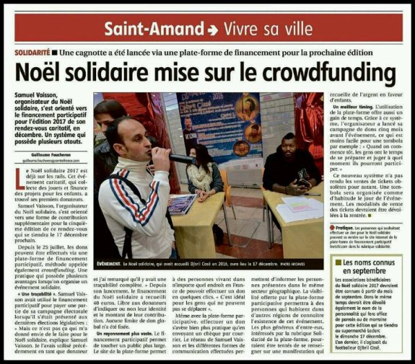 ARTICLE DE GUILLAUME FAUCHERON DU BERRY REPUBLICAIN DU LUNDI 7 AOÛT 2017