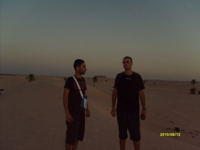 I and my cousin in the sahara