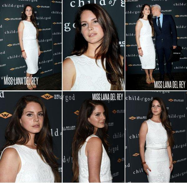 """30/07/14 Lana Del Rey à la Première du film """" Child of God """""""