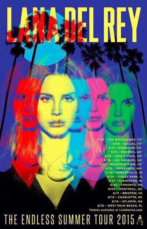 """Affiche pour """"The Endless Summer Tour 2015"""""""