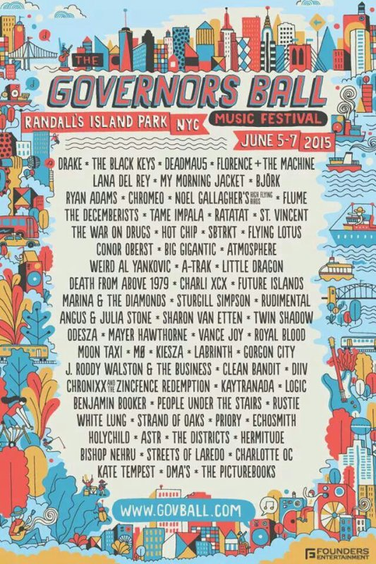 "Festival ""Governors Ball"", NY"