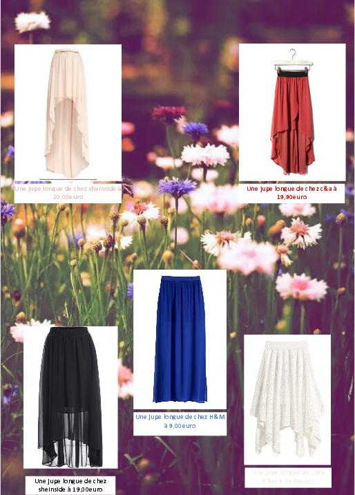 Des jupes longues pour le printemps...♡♡♡