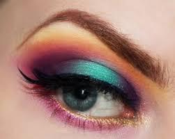 Un make up arc en ciel <3