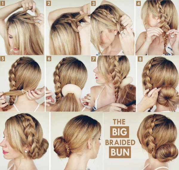 the big braided bun ♡♡♡