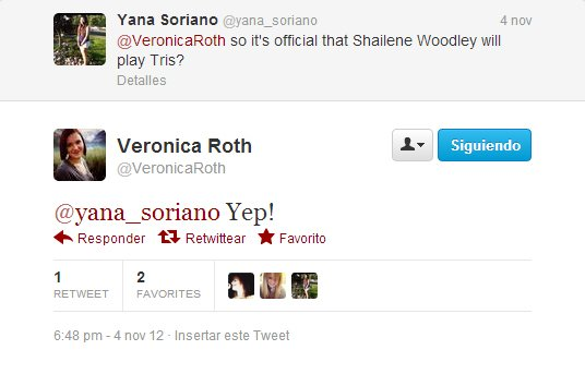. L'auteur de Divergent confirme que Shailene sera bien Tris!