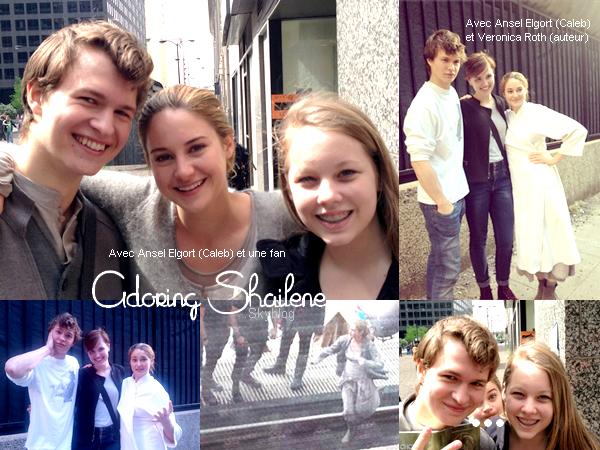 . Des photos de Shailene sur le set de son prochain film Divergent viennent d'apparaître.