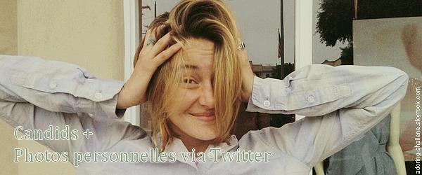 . Candids + Photos personnelles via twitter