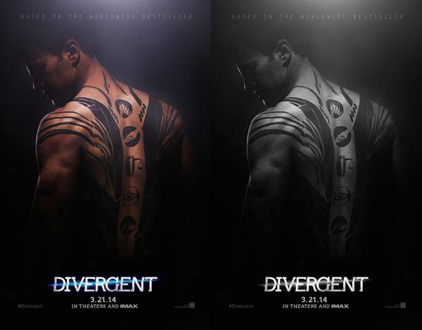 . Premières affiches de Divergent
