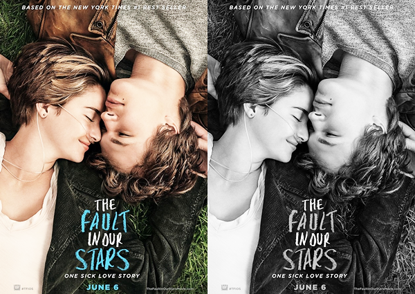 . Première affiche de The Fault In Our Stars