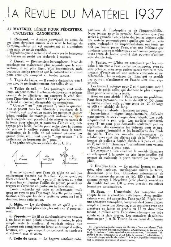 Publicités : Année 30  Matériel 1937