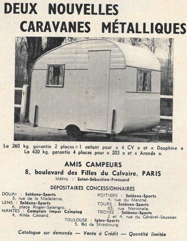 CARAVANES : Publicité