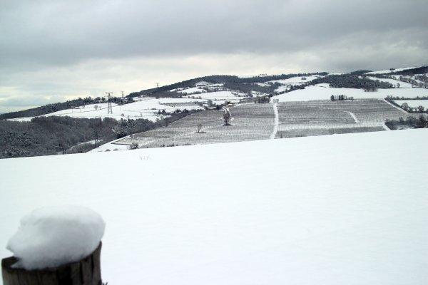 Neige dans la Loire