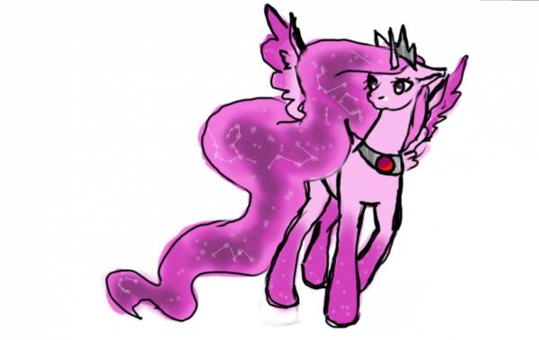 La reine des licornes roses