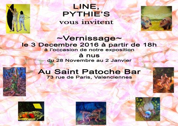 Notre  exposition et vernissage  au Saint Patoche Bar!!!