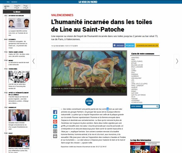 L'humanité incarnée dans les toiles de Line au Saint-Patoche