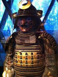 photo ancienne samourai en armure