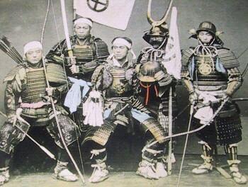 samourai époque EDO dans l'action prenait la bonne décision.