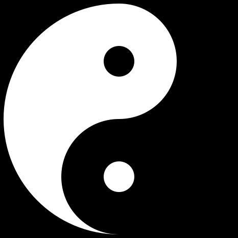 Le yin et le yang le noir & le blanc,le chaud et froid,deux forces dominante & identique.
