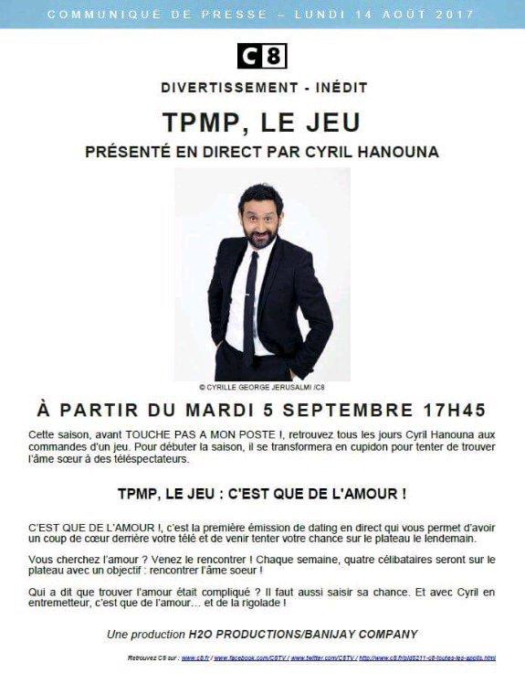 TPMP COMMENCERA PLUS VITE SON EMMISSION EN SOIRÉE!