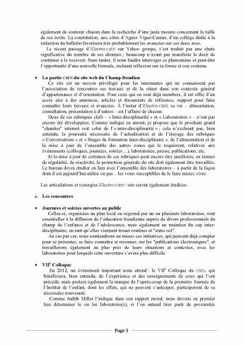 Assemblée Générale du CIEN - Propositions d'orientation