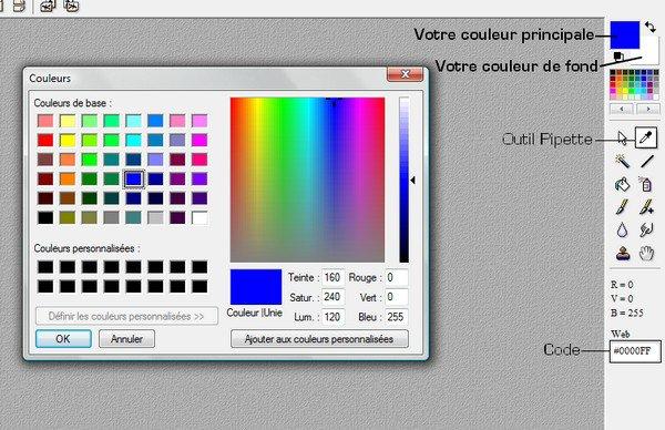 Changer la couleur principale et la couleur de fond
